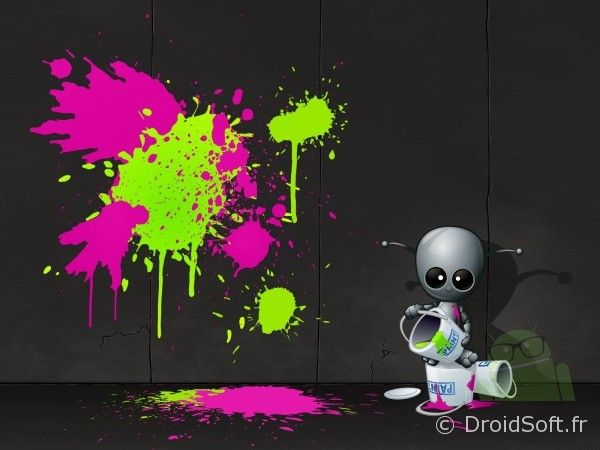 robot artist wallpaper android