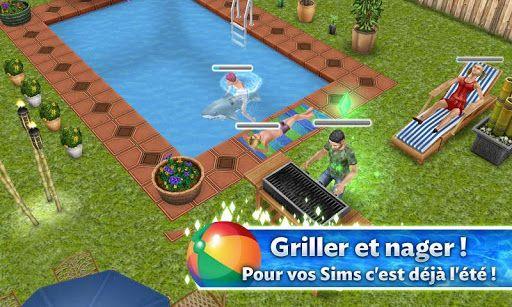 sims gratuit android piscine