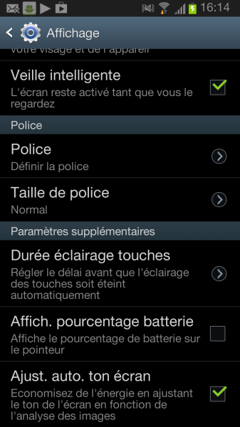 tuto changer police android samsung