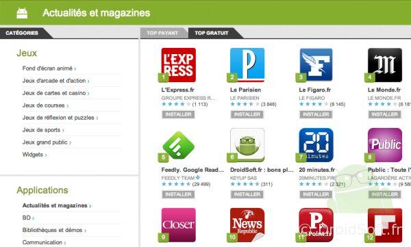 DroidSoft App Top Classement