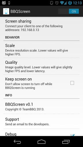 bbqscreen android mirroring
