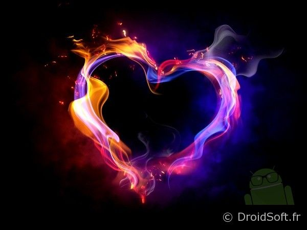 coeur en feu wallpaper android