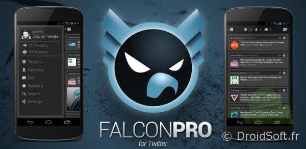 falcon pro android twitter