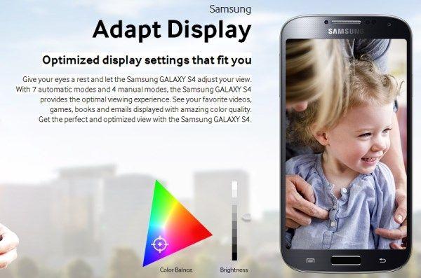 galaxy s4 adapt display