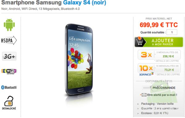 Galaxy S4 699e