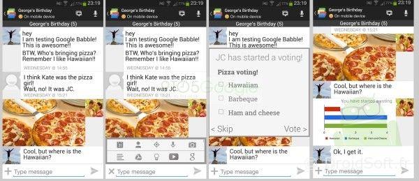google babble messagerie