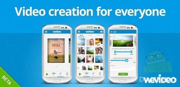 wevideo android app gratuite