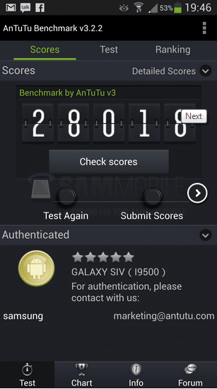 Benchmark S4 detail