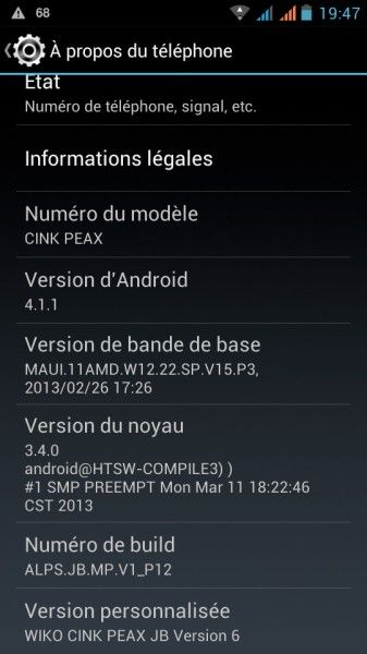 android jelly bean wiko cink peax