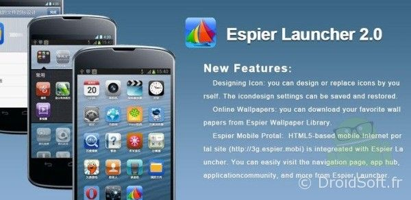 espier launcher android iphone