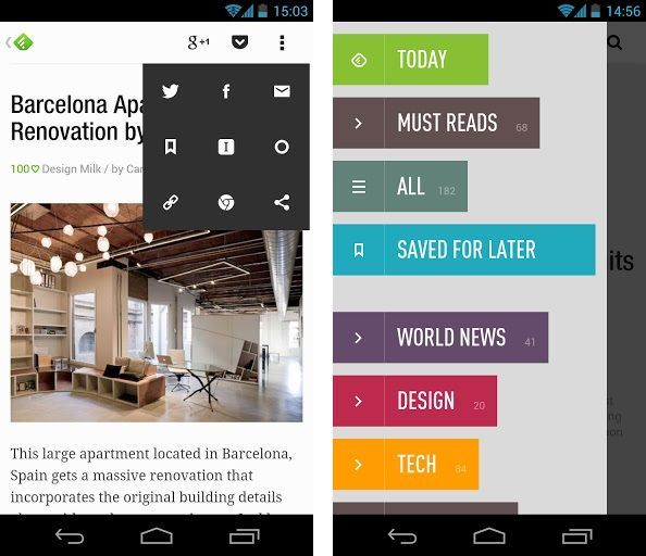 feedly android mise à jour