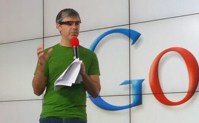 larry page avec les google glass