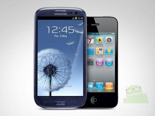 samsung galaxy contre iphone