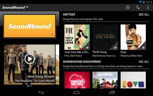 soundhound tablette android