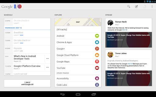 Google I:O app