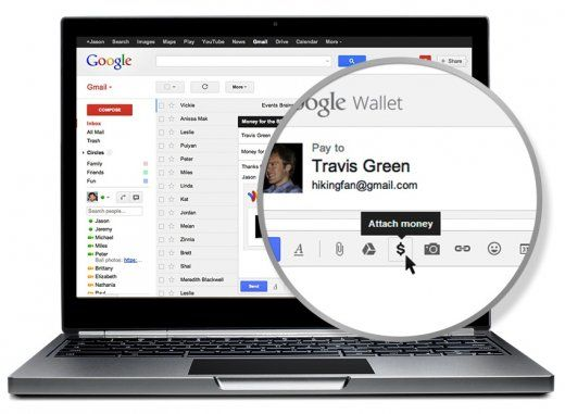google wallet piece jointe gmail