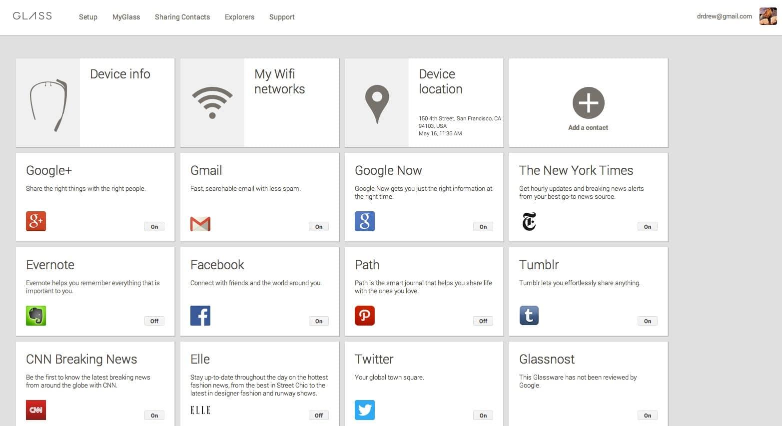 premieres applications pour google glass