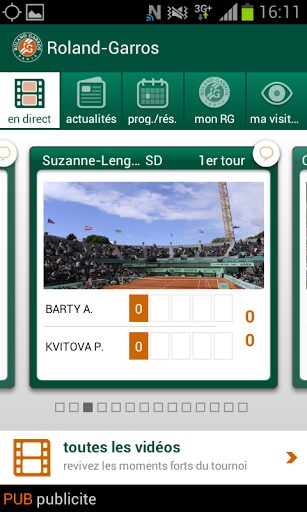 rolland garros android 2013