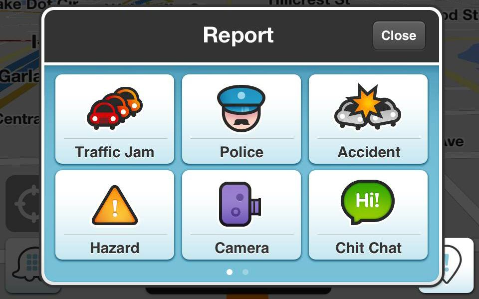 waze gps report android