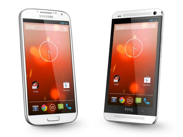 Samsung Galaxy S4 Google Edition et HTC One Google Edition