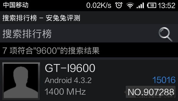 samsung gt-i9600, Un nouveau smartphone Samsung GT-i9600 sous Android 4.3.2 ?