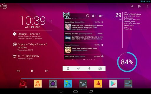 action launcher pro android tablette
