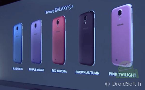 galaxy s4 coloris