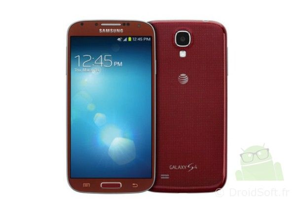 galaxy s4 rouge