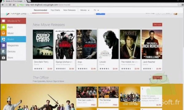 google play web 2013 interface