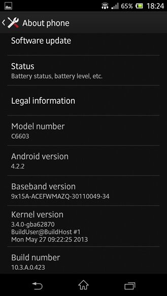 sony xperia z android 4.2.2 capture