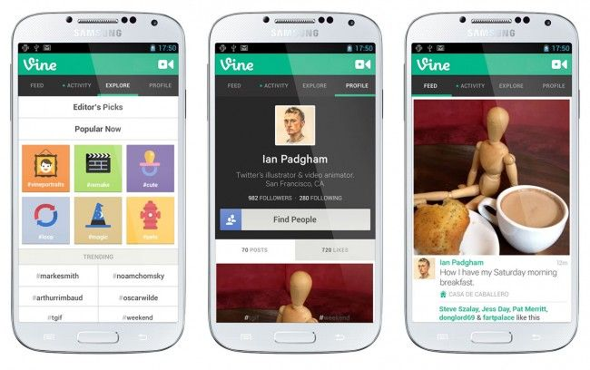vine android twitter
