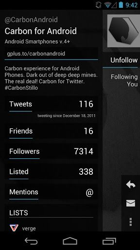 carbon twitter 1.2 android