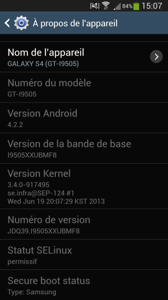 correctif galaxy s4 android 4.2.2