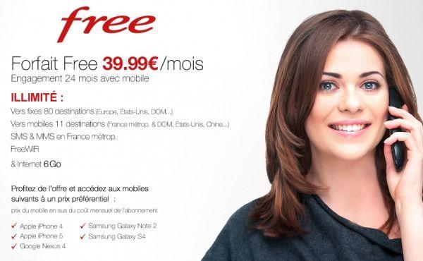 free vente privee forfait 39 euros
