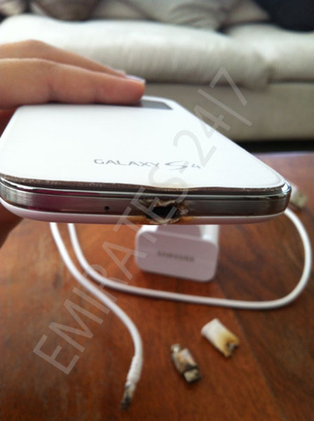 galaxy s4 charge brule