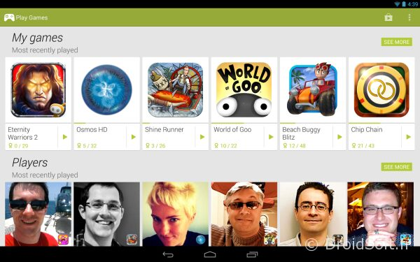 google play games center