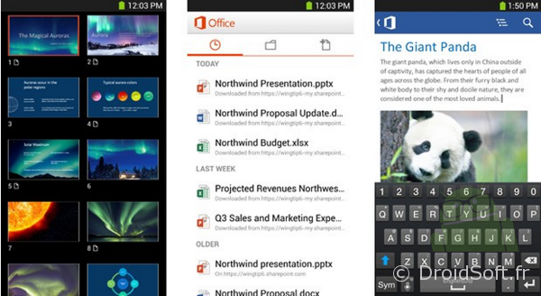 microsoft office 365 android app gratuite