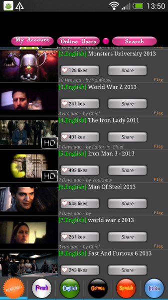 movietube film entier youtube gratuit android