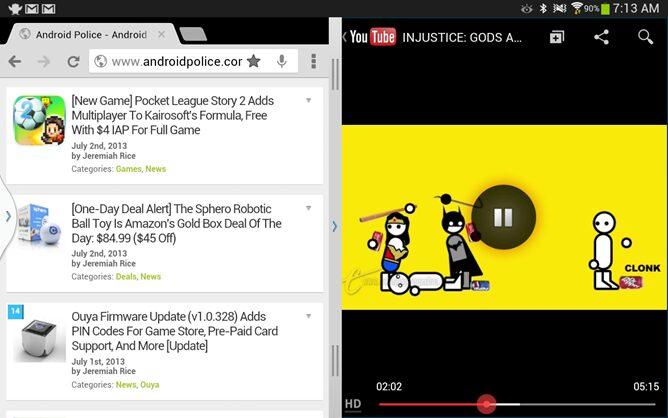 youtube multitache