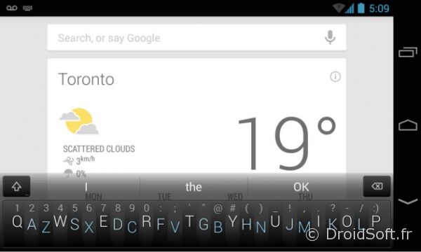 android minuum keyboard clavier