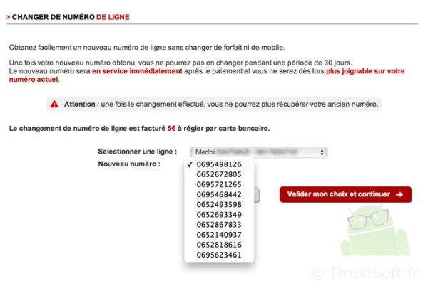 free mobile propose le changement de num ro pour 5 euros. Black Bedroom Furniture Sets. Home Design Ideas
