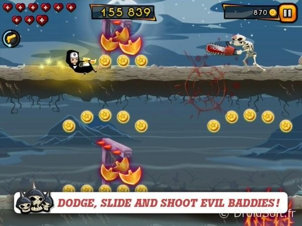 nun attack gun run android jeu gratis