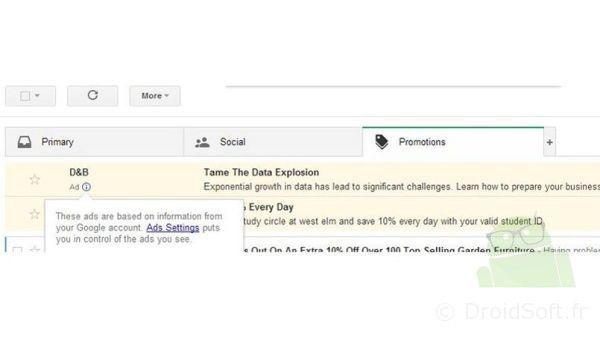 pub gmail en mail