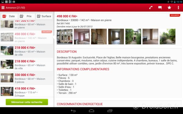 seloger android app gratuite