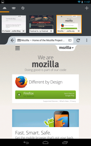 firefox v24 android