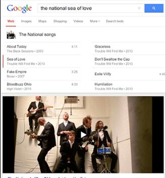 musique recherche google