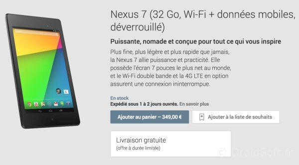 nexus 7 2013 HD 4G LTE