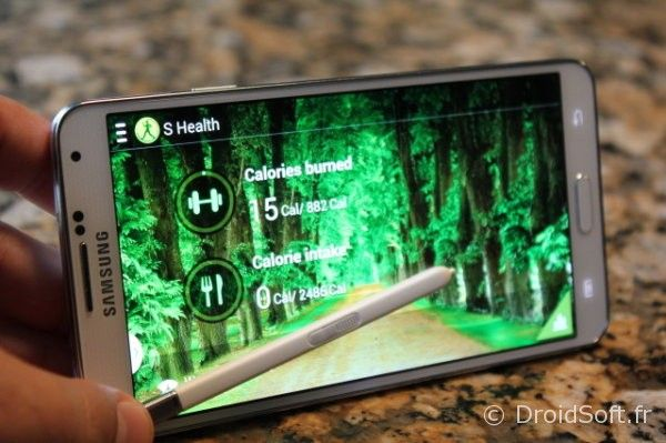 galaxy note 3 s health test