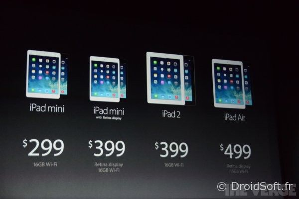 iPad mini ipad air ipad 2 ipad retina
