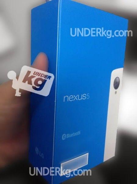 nexus 5 boite bleu blanc